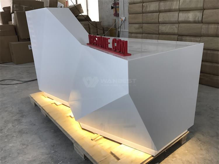 Corian reception desk with LED