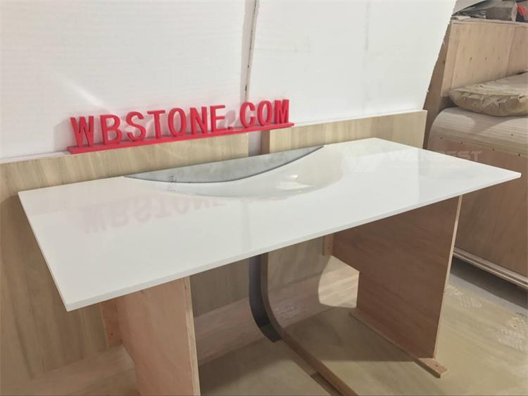 White Durable Tailored Size washing sink