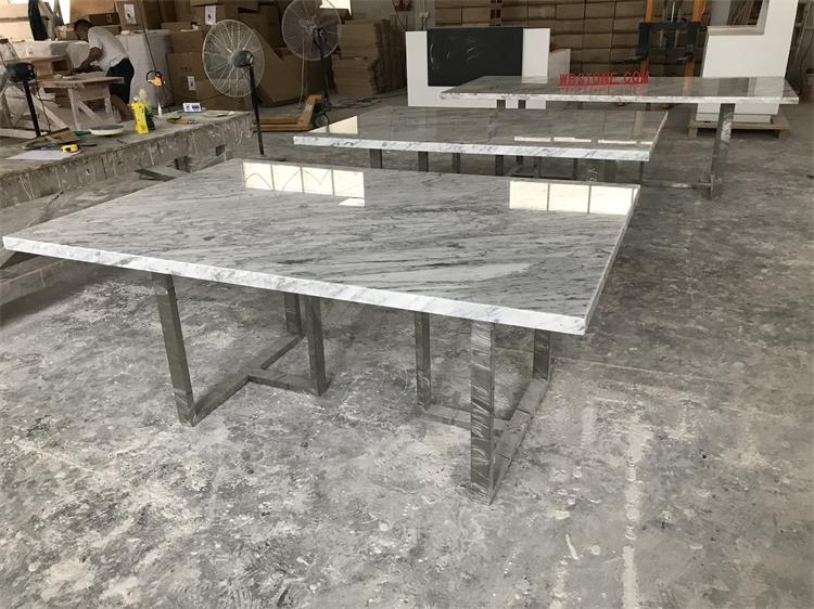 Three marble conference tables