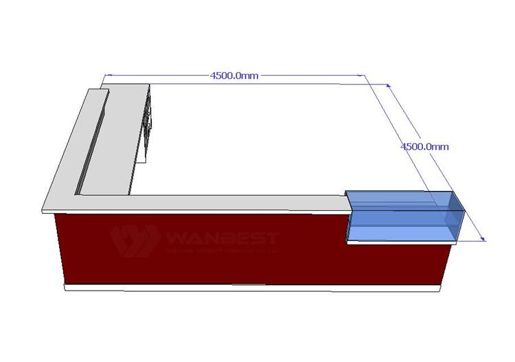 The front of 3D drawing bar counter