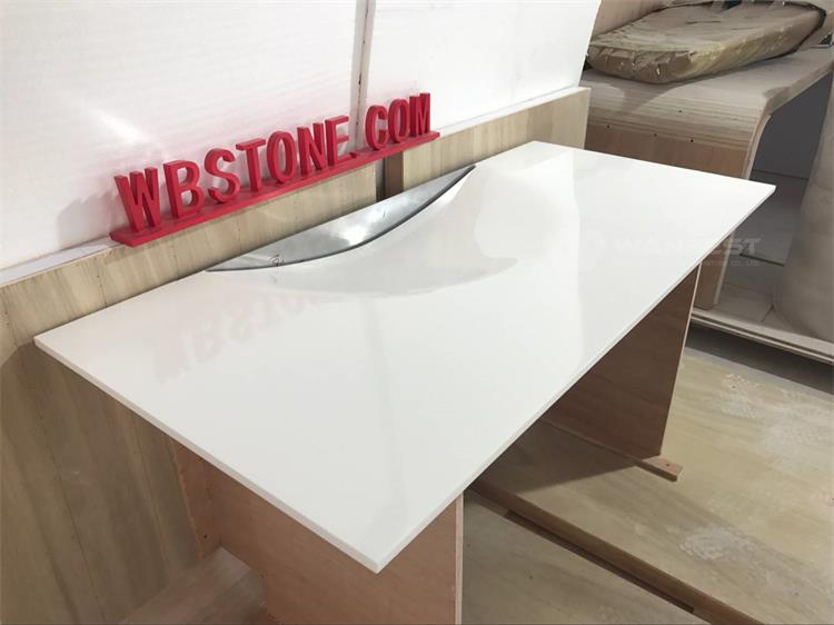 White Durable Tailored Size Solid Surface Washing Sink