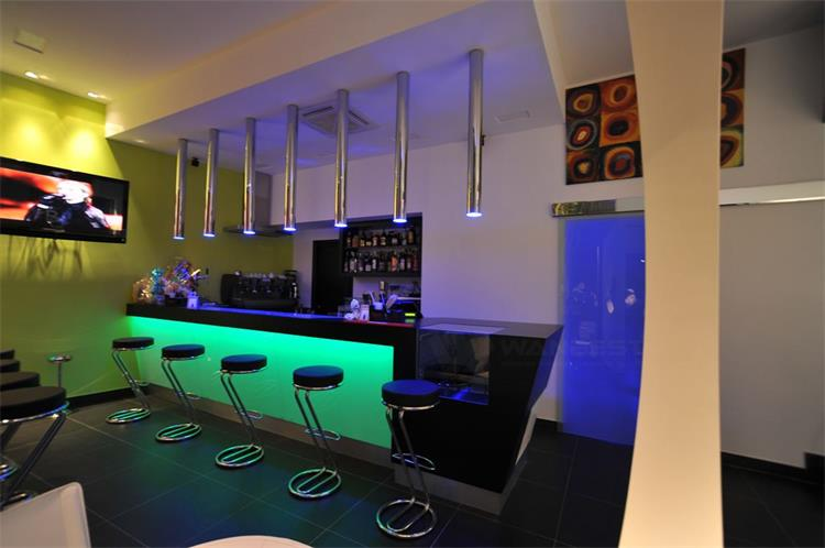 Small bar counter with LED