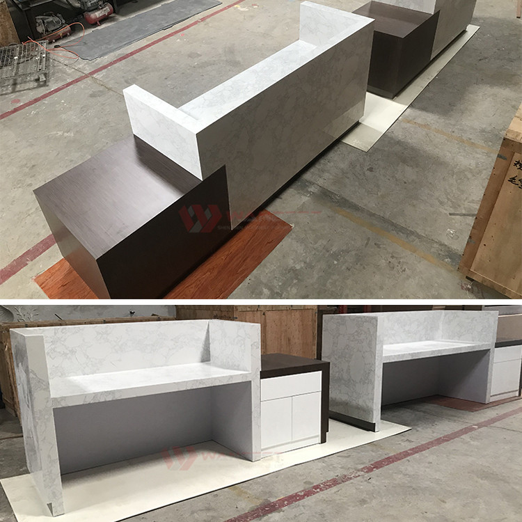 2 pieces reception desk