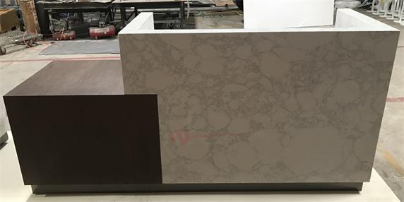 White Marble Straight Durable Reception Desk 2018 Hot Sale