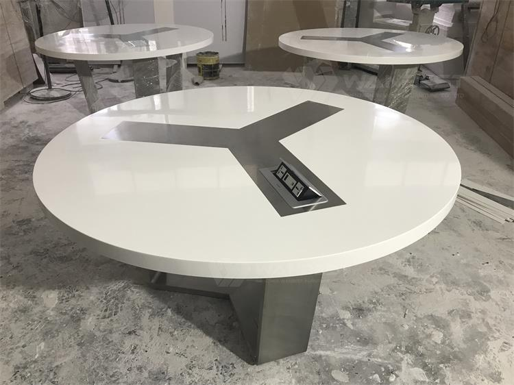 3 round conference table