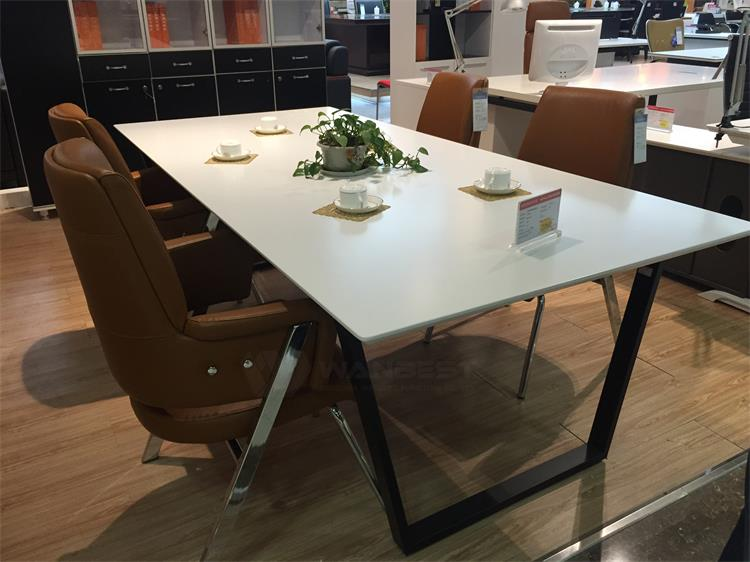 meeting room table with stainless steel