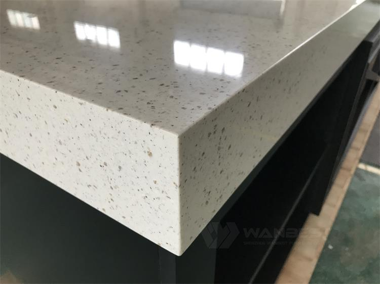 The corian marble of kitchen counter