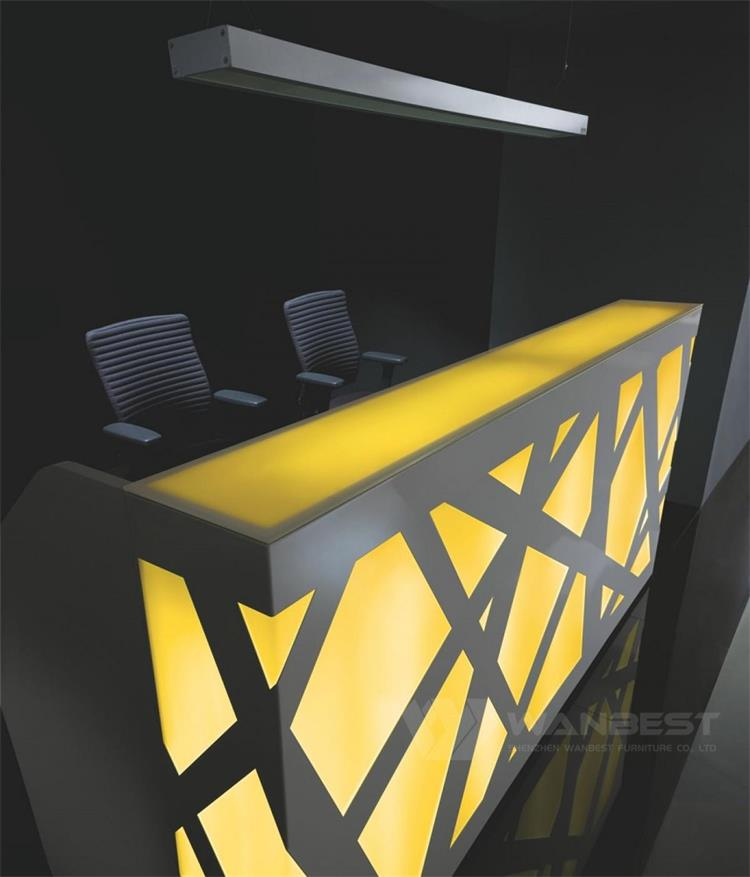 Yellow LED light front counter
