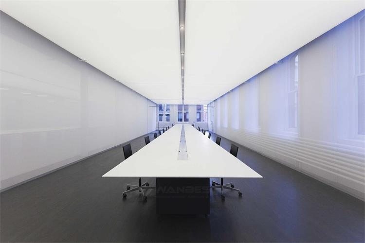 White solid surface conference table