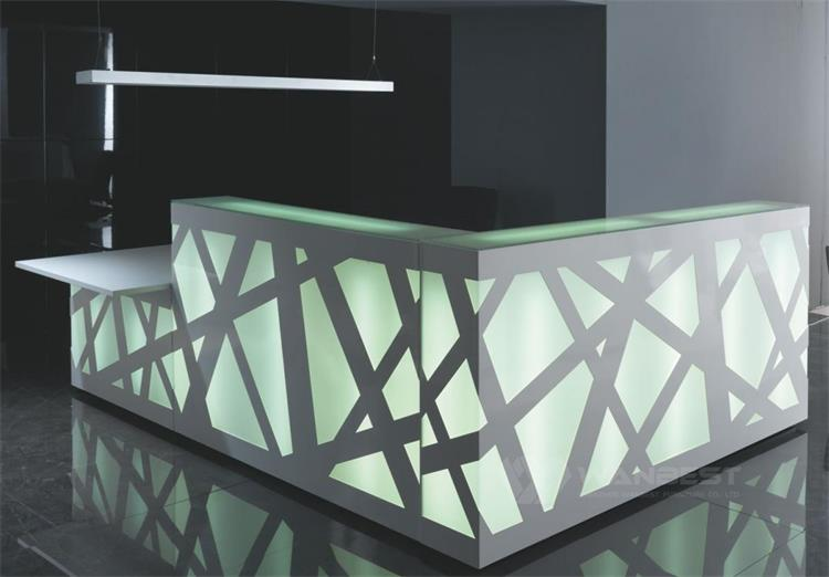 LED light reception desk