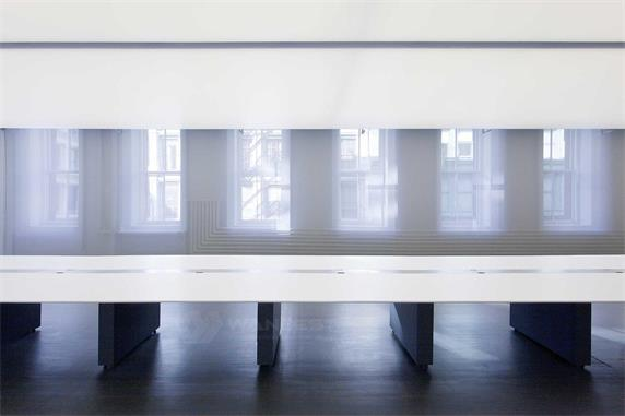 Super long straight solid surface luxury conference table