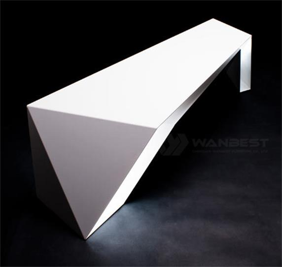 White fashion & simple design solid surface office desk