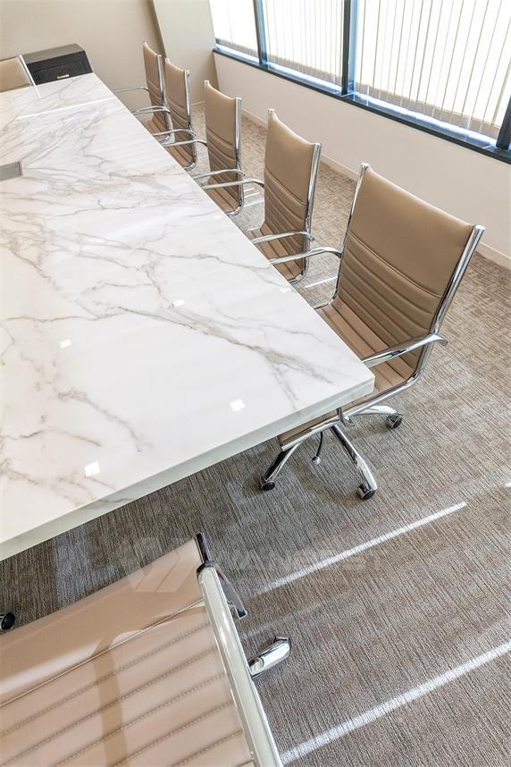 Wood leg marble counter top generous design Conference desk