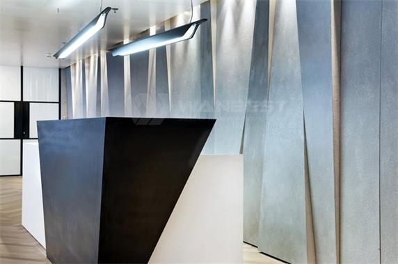 White black luxury corian modern client free design reception desk