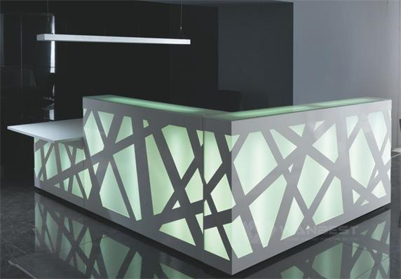 Customized Office Modern LED Light Front Counter For Sale
