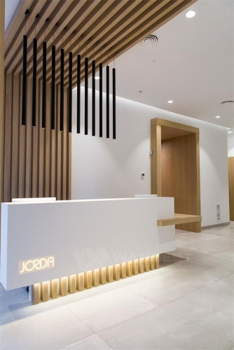A Set of Corian Solid Surface Products Dentist Clinic reception desk