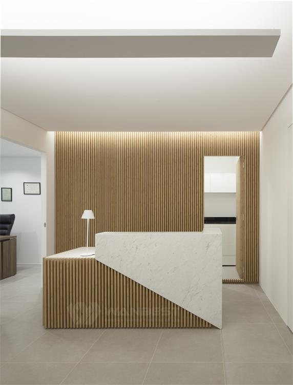 Wooden & Solid Surface New Design Office Reception Desk