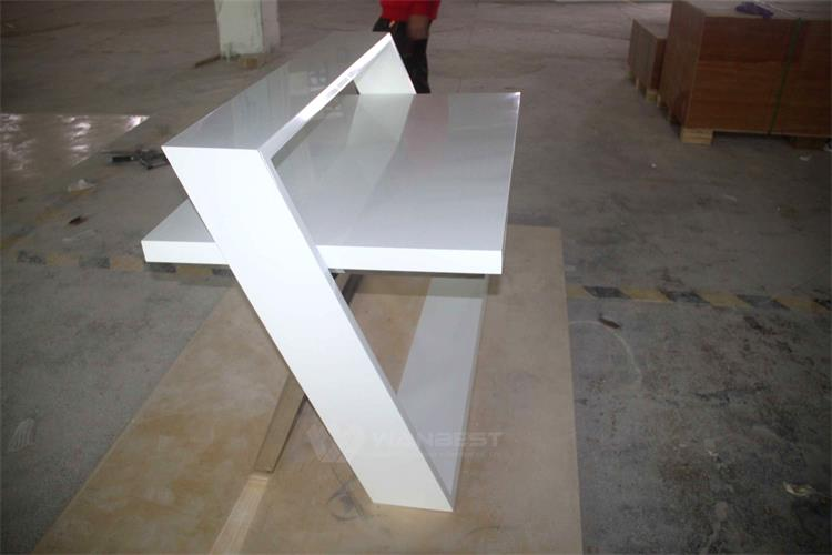 Solid surface & stainless steel legs