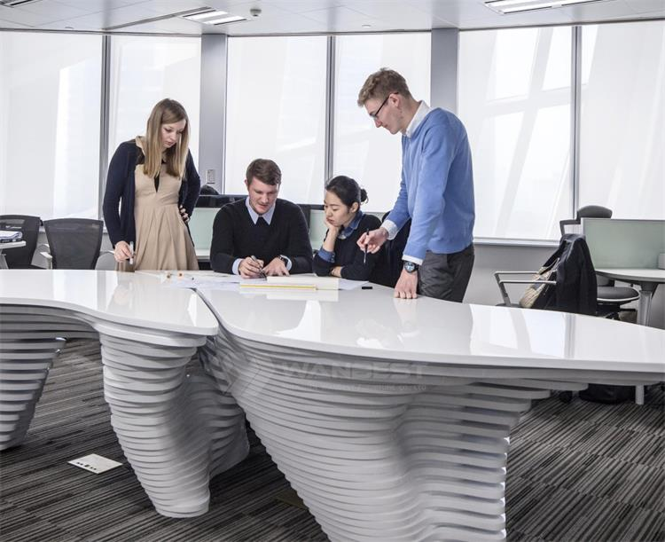 solid surface meeting room table