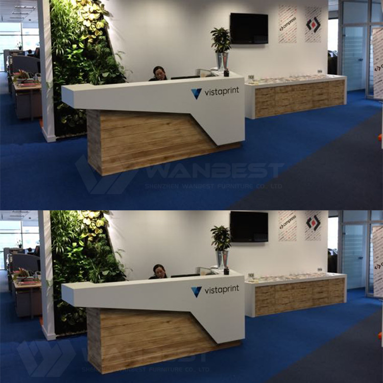 Reception desk with LOGO