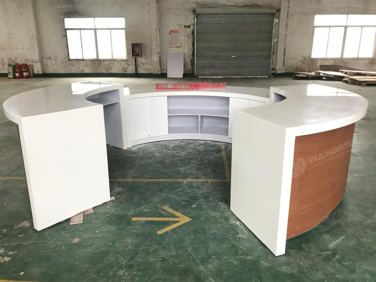 Wooden & Solid Surface Reception Desk Furniture