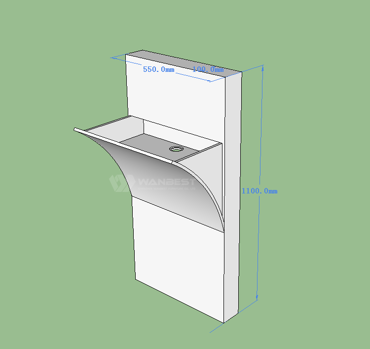 3D drawing sink