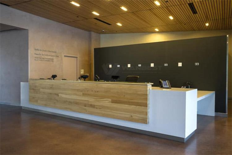 The side of luxury reception desk