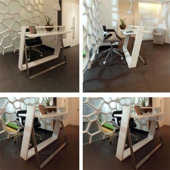 Customized Adjustable Solid Surface Office Manager Room Desk