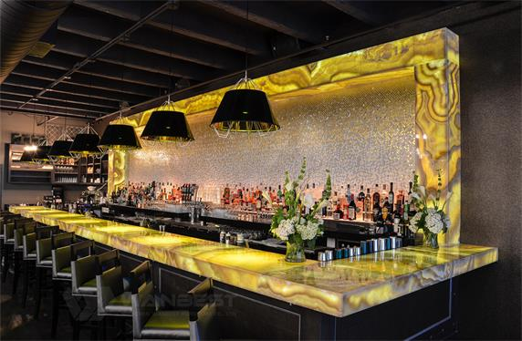Spetacular large commercial modern custom bar counter