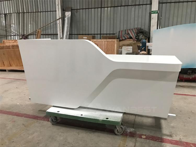 Wood white lacquer painting reception desk