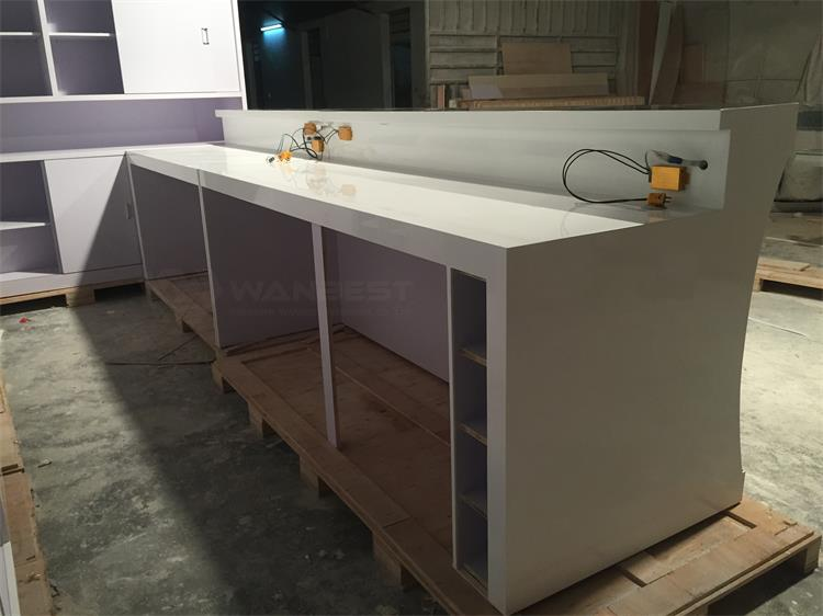 The behind of bar counter