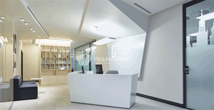 Beauty luxury design reception desk,