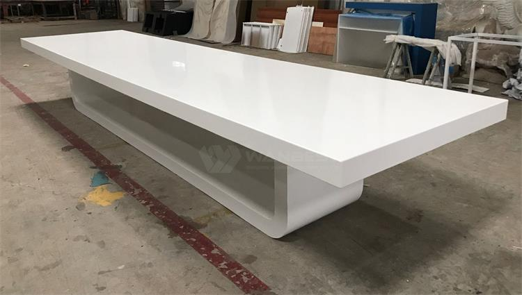 .Wood white lacquer painting large conference table