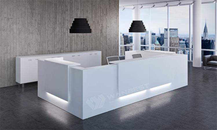 Reception Desk For Company With LED