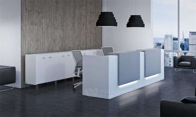 Two seat reception desk