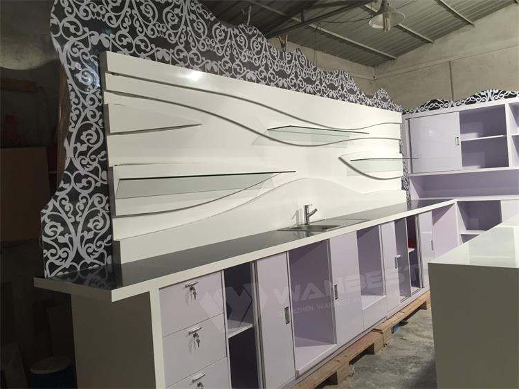 Elegant beauty design bar counter