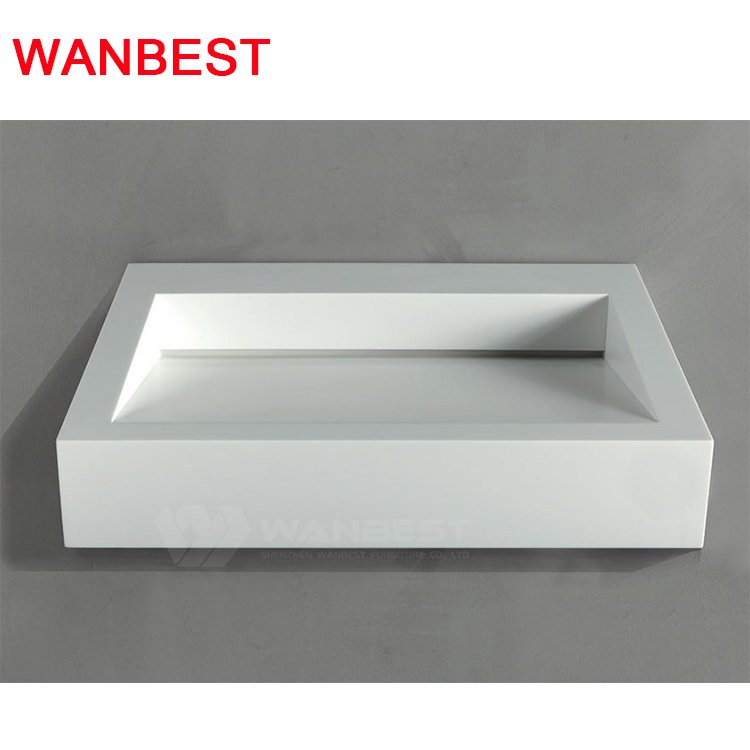 White Rectangle Bathroom Sink