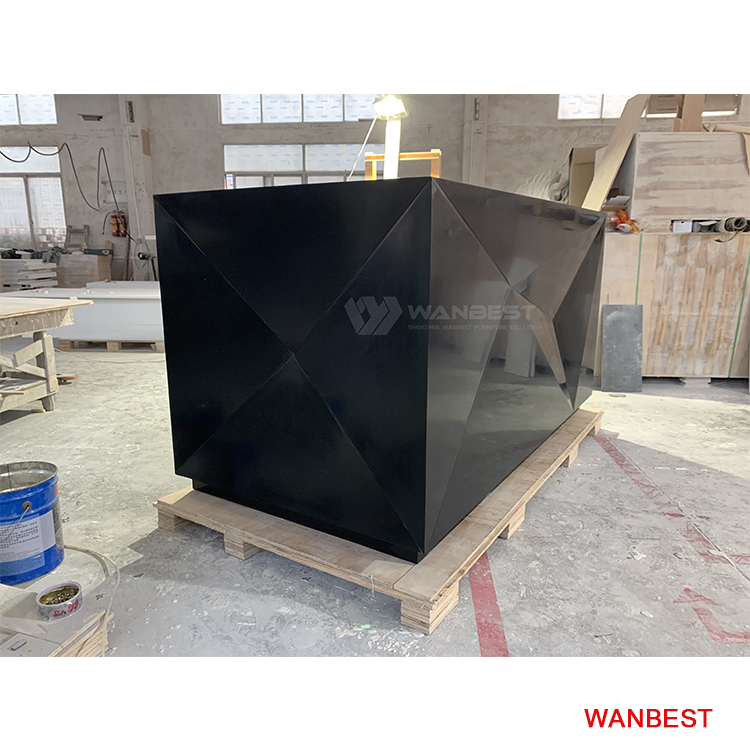 Customized Hight Quality Black reception desk