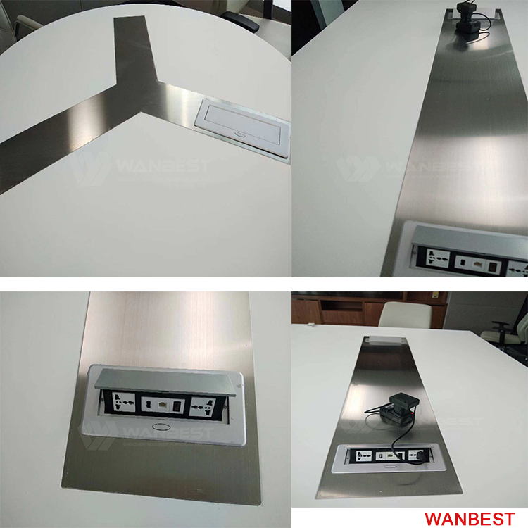 Multimedia socket of conference table