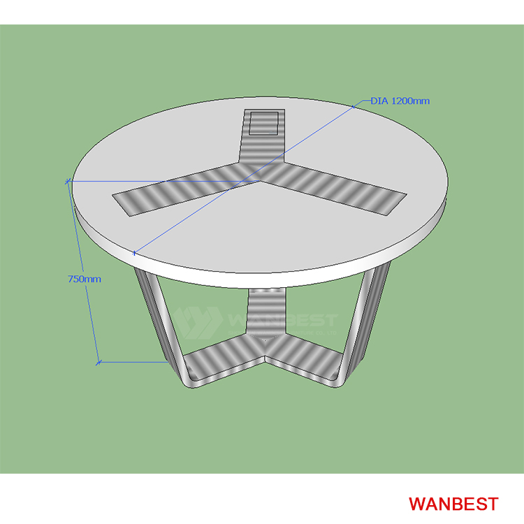 Four seats for people round meeting table