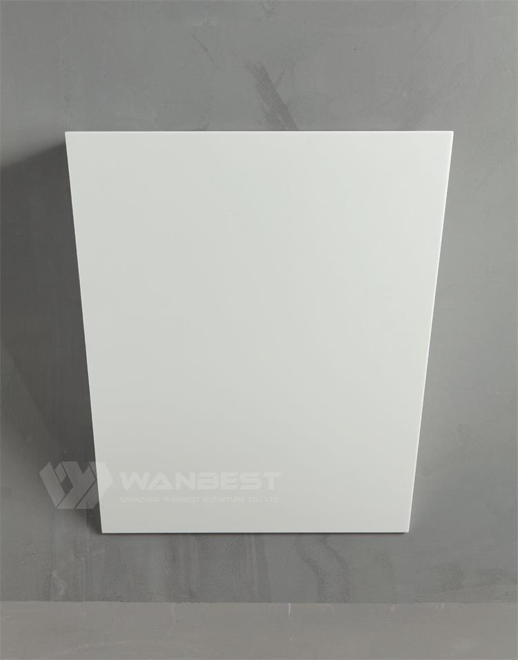WHite solid surface bathroom product