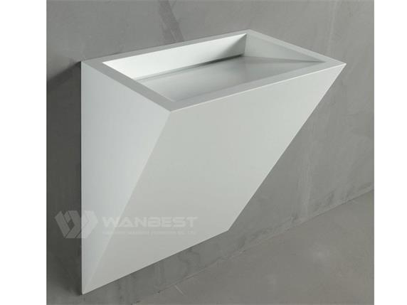 Artificial Marble Small Inverted Triangle Bathroom Sink