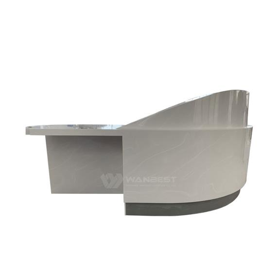 2018 New Commercial Artificial Stone Semicircle Standard Size Reception Desk