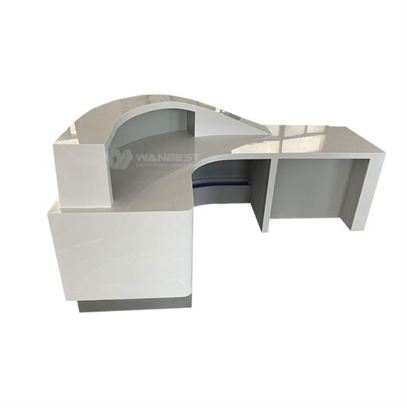 New Commercial Artificial Stone Semicircle Standard Size Reception Desk