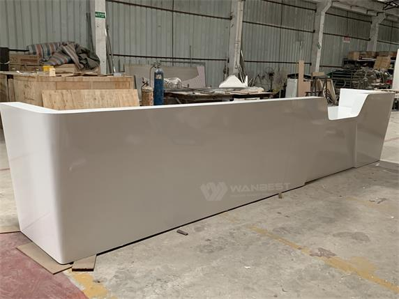 Super Long Straight Commercial Wooden Reception Desk