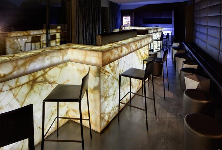 Commercial Luxury Cookie Light-Transmitting Plate Bar Counter Design