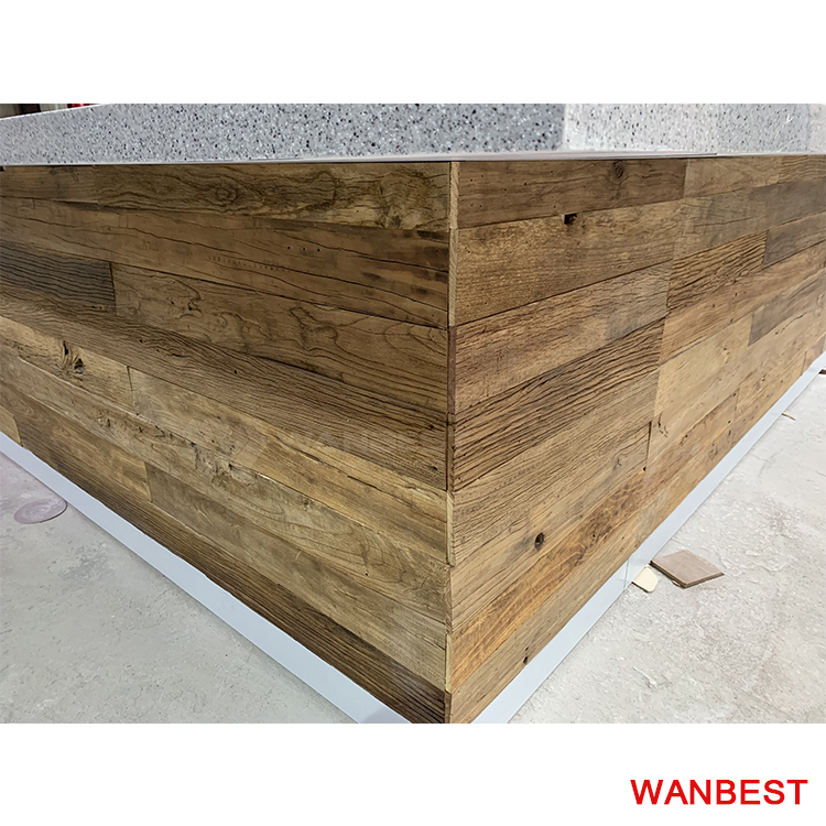 The body of bar counter furniture is solid wood