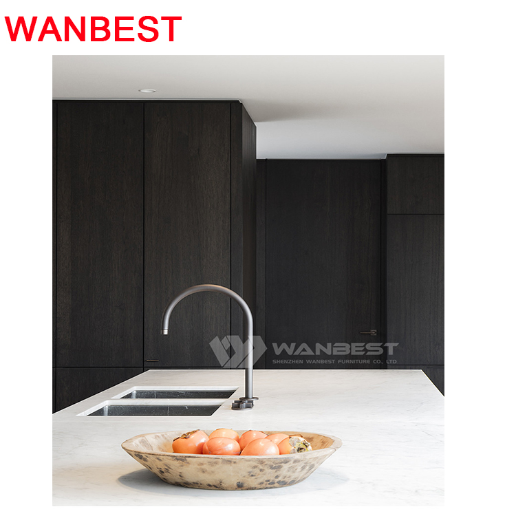 Artificial Stone Granite Kitchen Counter Top Wooden Cabinets