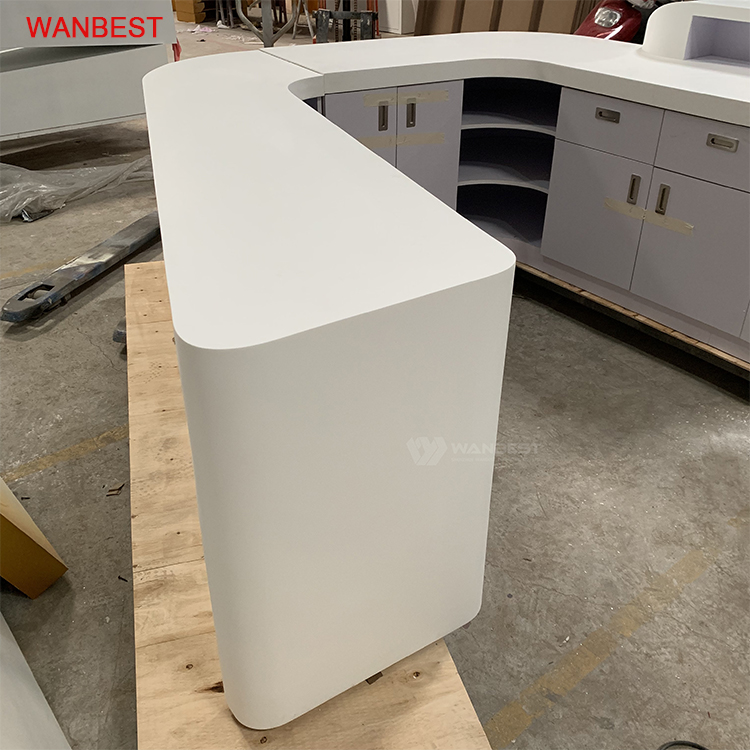 Acrylic High Glossy White front counter
