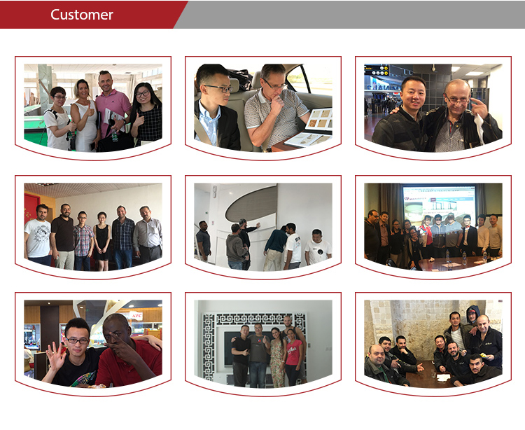 Our customers from all over the world